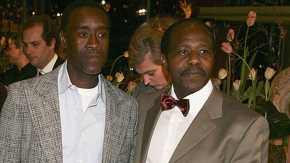Paul Rusesabagina and Don Cheadle—Getty Images