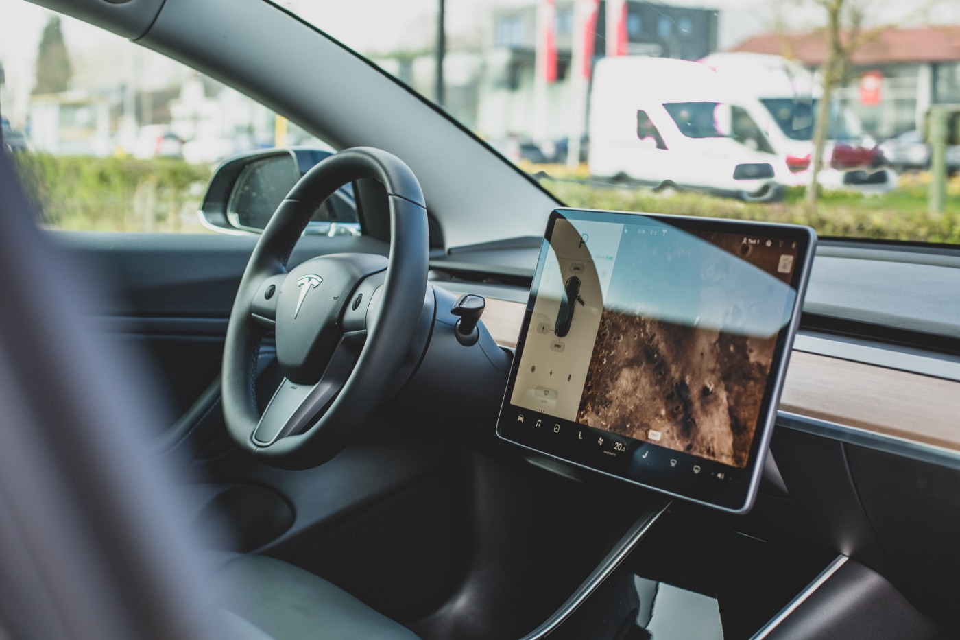 image of the interior of a tesla