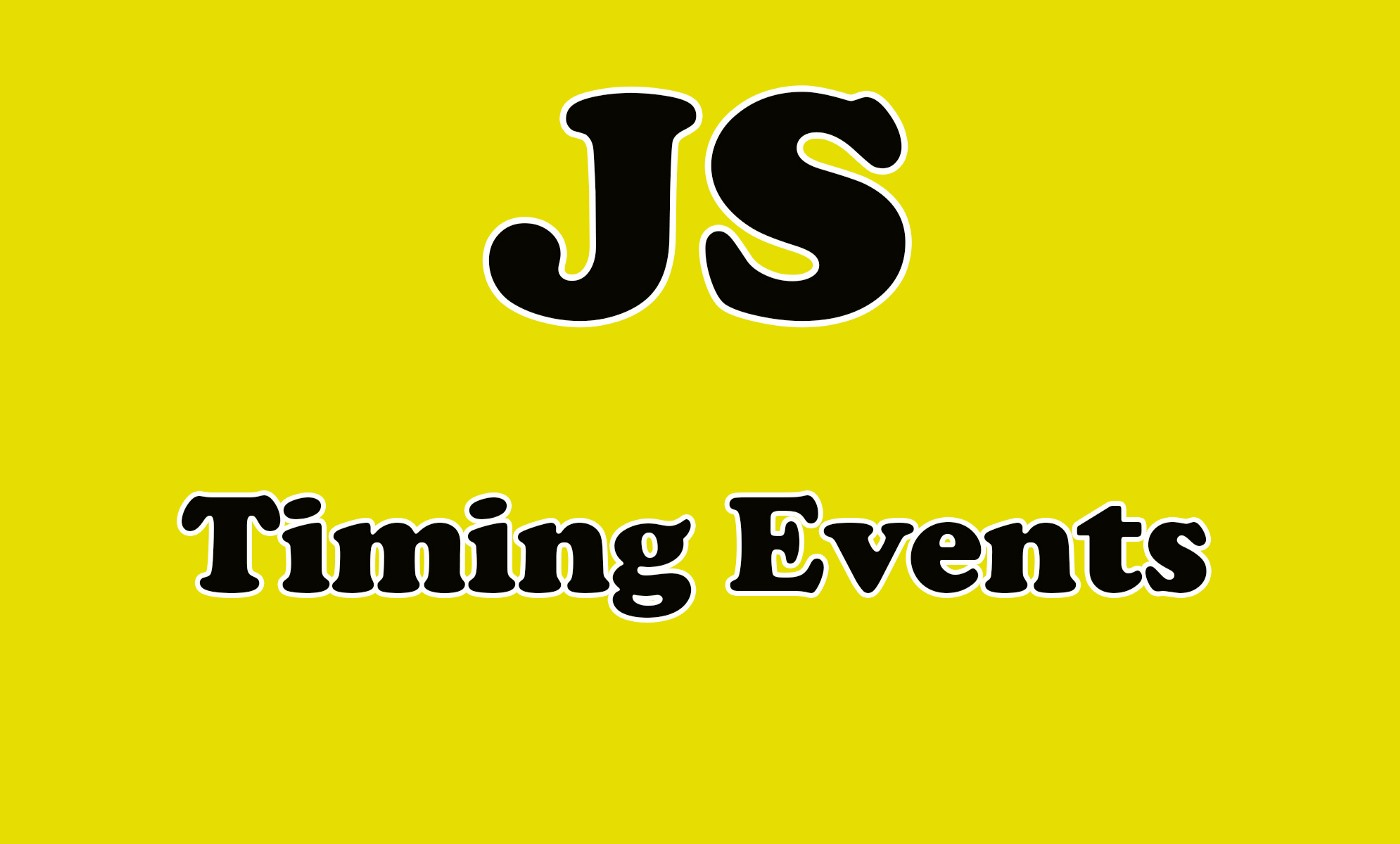 Timing events in JavaScript.