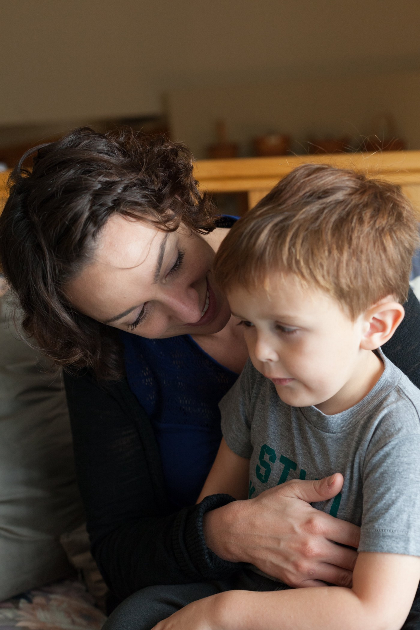 The author with her son.
