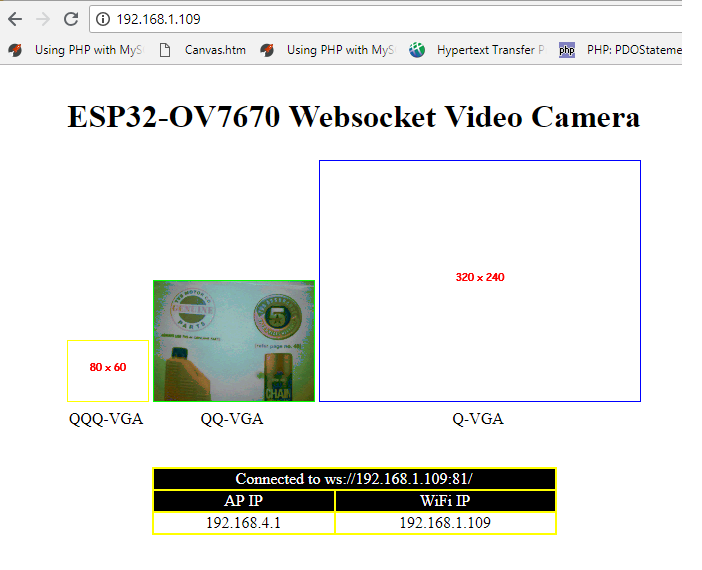 ESP32+OV7670 — WebSocket Video Camera - Mudassar Tamboli