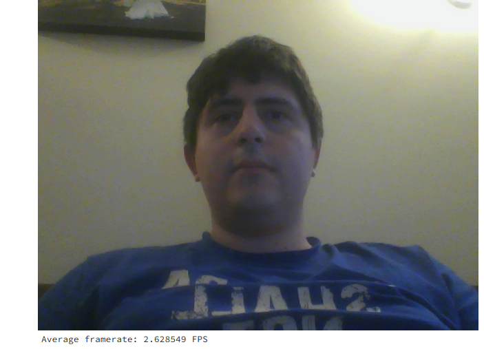 Displaying real-time webcam stream in IPython at (relatively
