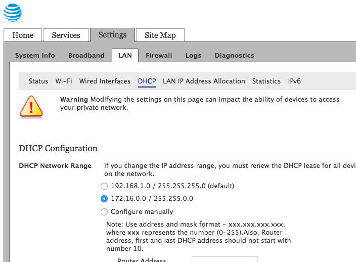 At&t Fiber using Personal Router (DMZ+ and IP Passthrough) a