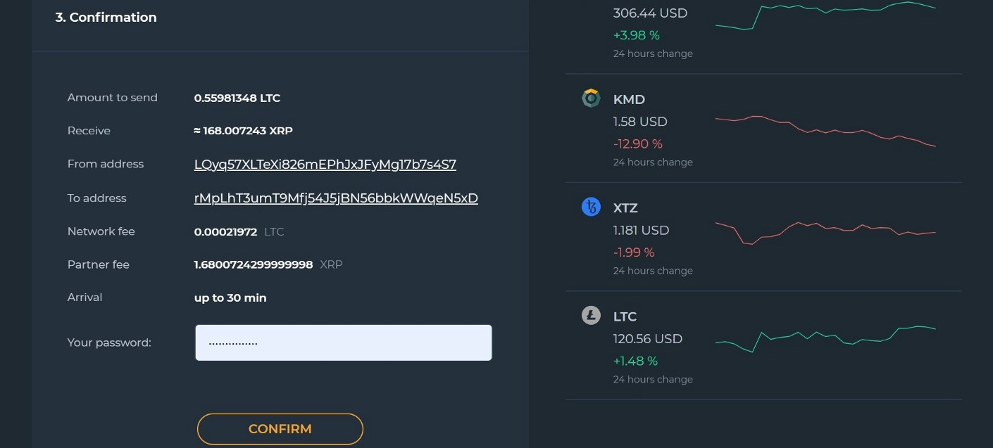 1*9SyjeIs2 lt73Zvaa qnAw - Magnum Wallet and ChangeHero — How to Exchange Crypto Without Leaving the Wallet
