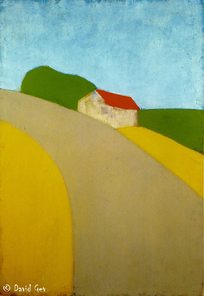 Ori Reisman, House on a Hill 1970, Private Collection