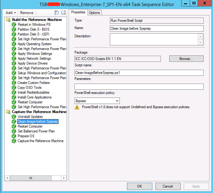 Cleaning the Windows Image before Sysprep during an SCCM B&C