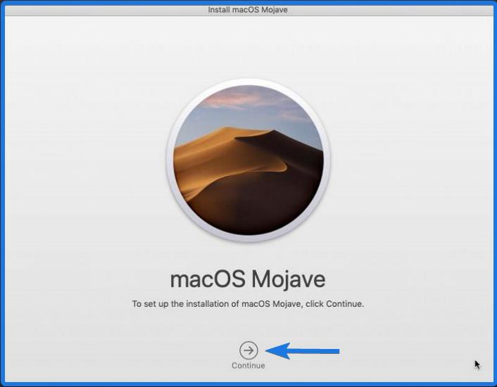 installation of macOS Mojave