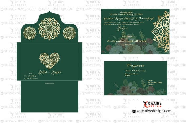 Free Wedding Card Design Template Download Xcreativedesign