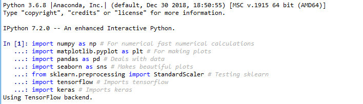 Installing a Python Based Machine Learning Environment in