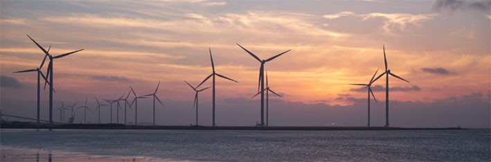 Wind farms are an example of renewable energy