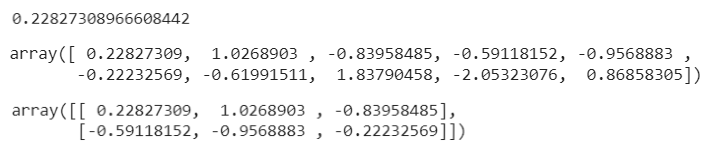 Figure 10: Using NumPy with normal distributed floating values.