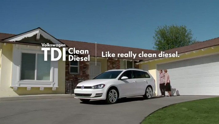 "Screen shot from From Volkswagen's ""Three Old Wives Talk Dirty"" TV spot."