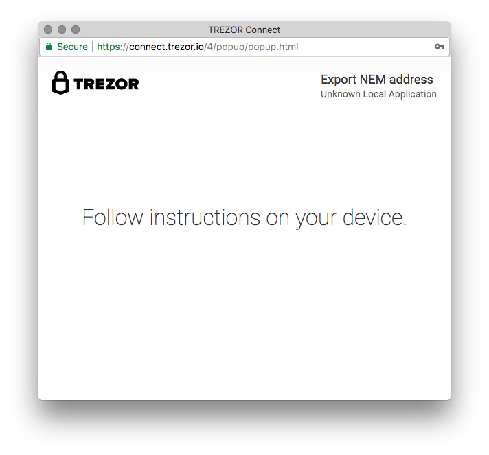 Announcing TREZOR integration with NanoWallet for NEM (XEM)