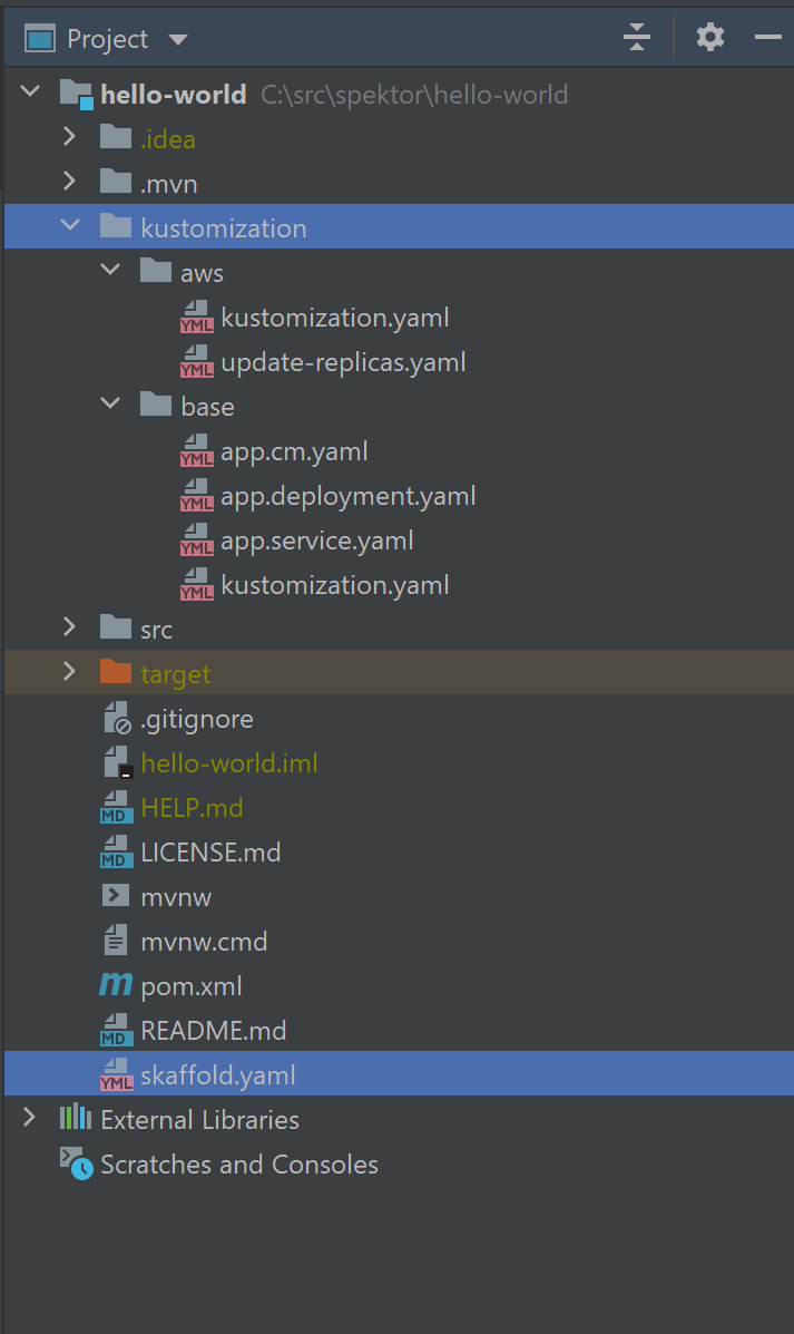 Project source code layout