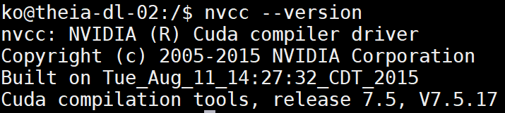 NV] How to check CUDA and cuDNN version - CR-Ko - Medium