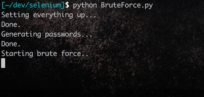 Brute-forcing Enterprise with Python, Selenium and PhantomJS