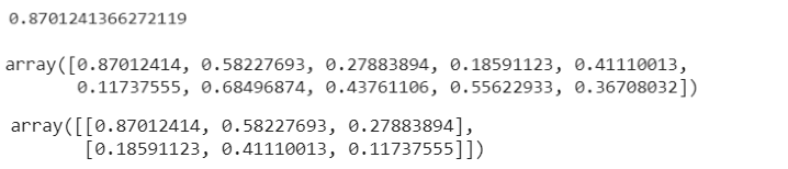 Figure 9: Random number generation output with NumPy.