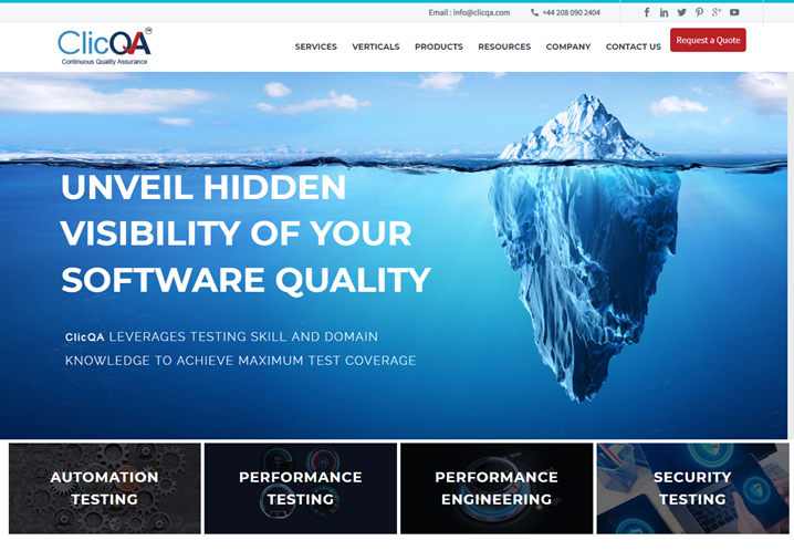 ClicQA—independent software testing company from India