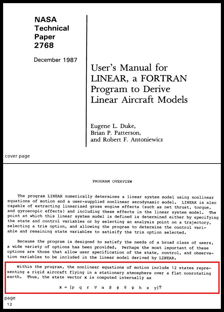 excerpt from NASA Technical Paper 2768