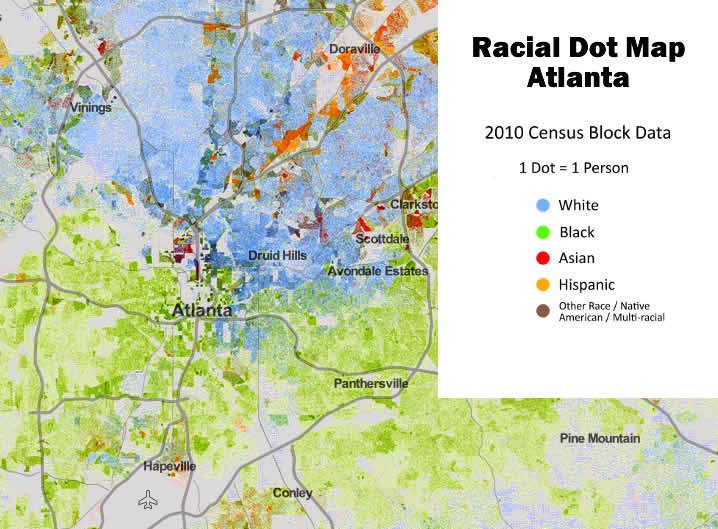 demographic map of atlanta Atlanta S Patterns Of Segregation And Where They Originate By demographic map of atlanta