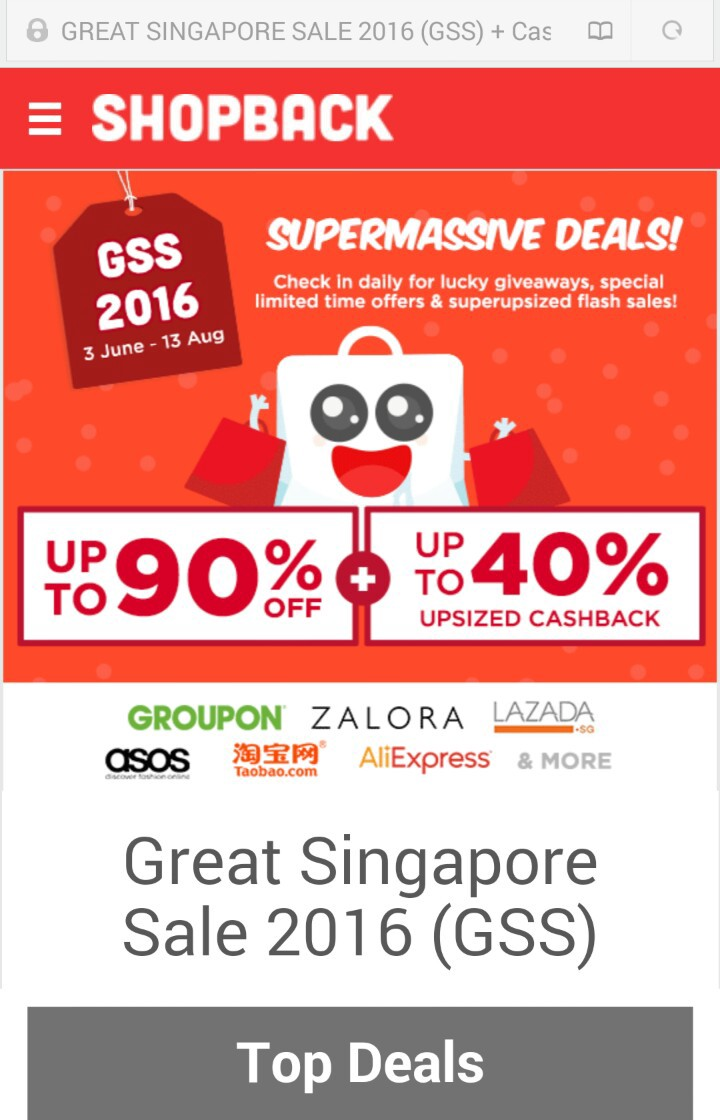 ShopBack: Save with cashback, Groupon coupons and more!