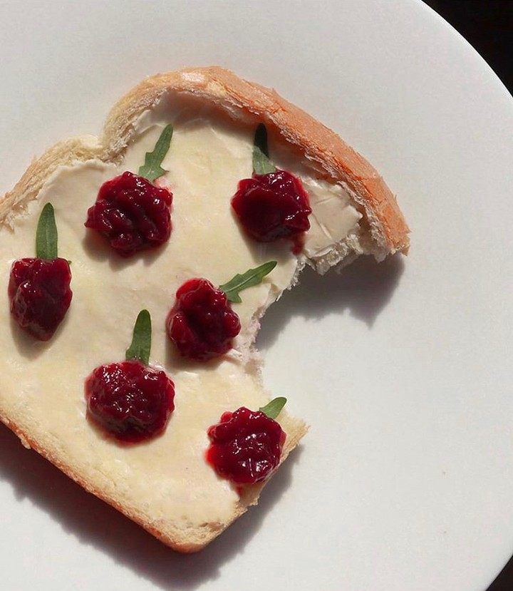 Lagom reminds us not to feel guilty about indulging in this raspberry toast.