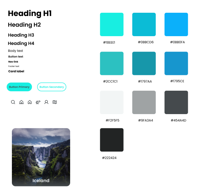 Colors and typography for the Wayfarer site.