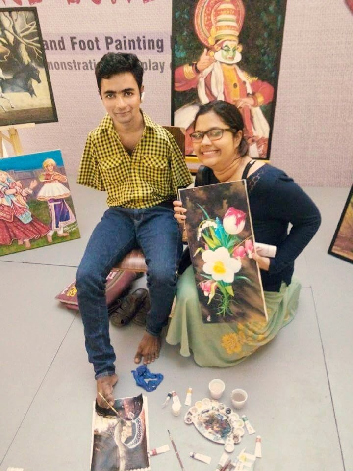 Strokes Of Genius Interview With Artists From The Mouth And Foot Painting Artists Association In India By Fine Print Medium