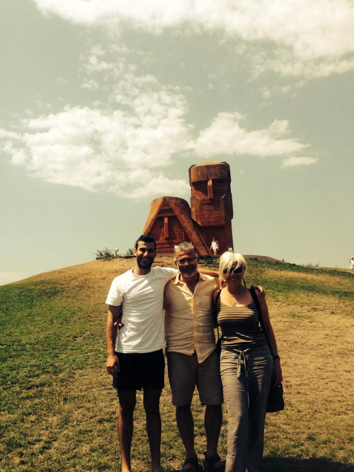 """""""We are the mountains"""" monument in Nagorno-Karabakh (Artsakh)"""
