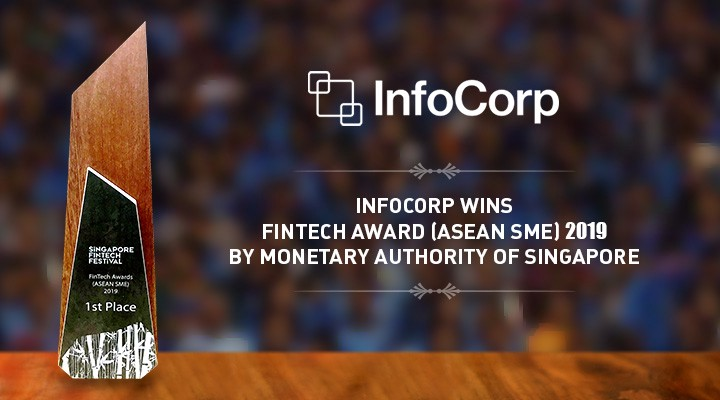 InfoCorp Won the Fintech Award (ASEAN SME) 2019 by the Monetary Authority of Singapore