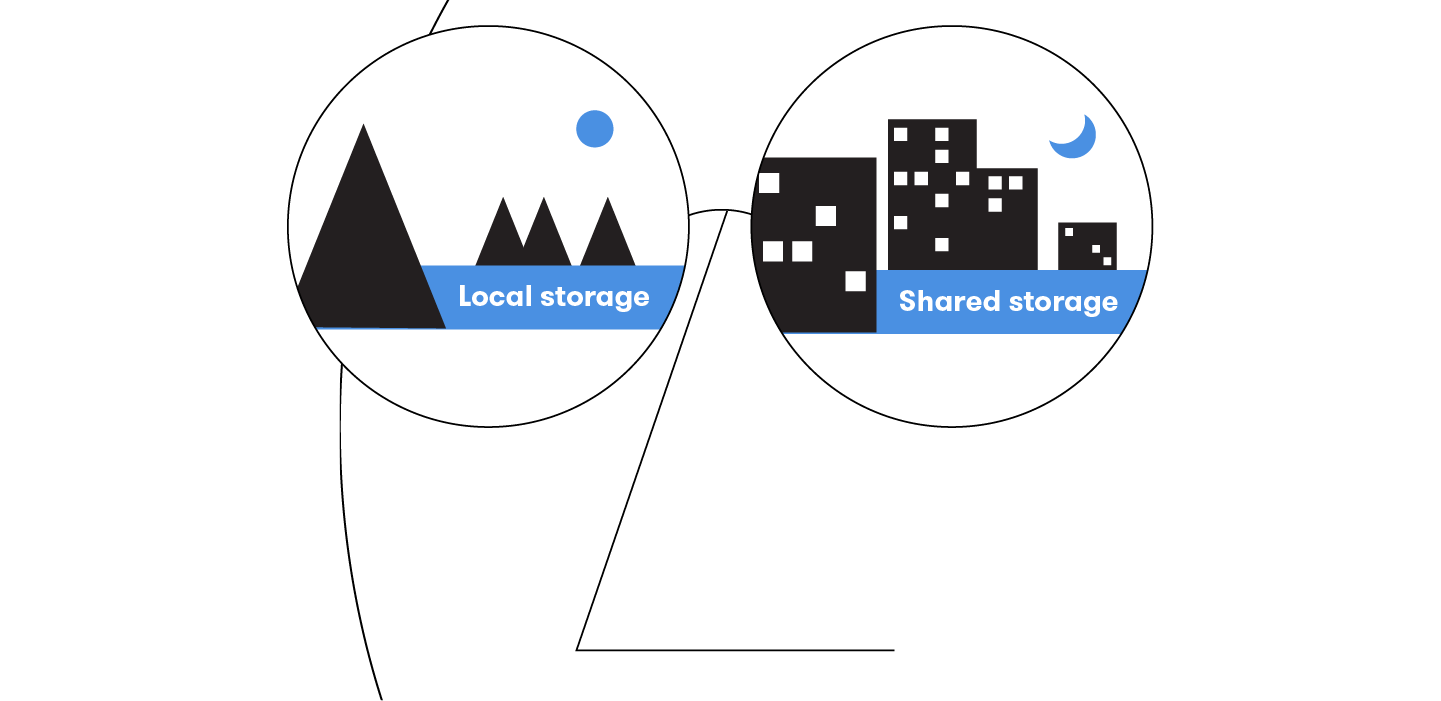 Local or shared storage? The insoluble dilemma of deployment
