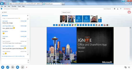 Lync Web App — The 'join from browser' experience - Darrell