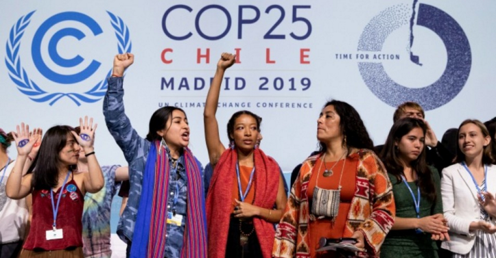 Youth activists from around the world storm the stage at COP25 to demand climate action. December 11, 2019