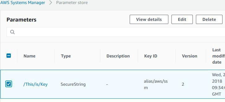 Managing Secrets Using AWS Systems Manager Parameter Store