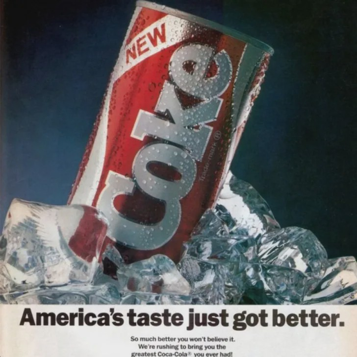 c.1985 ad for New Coke
