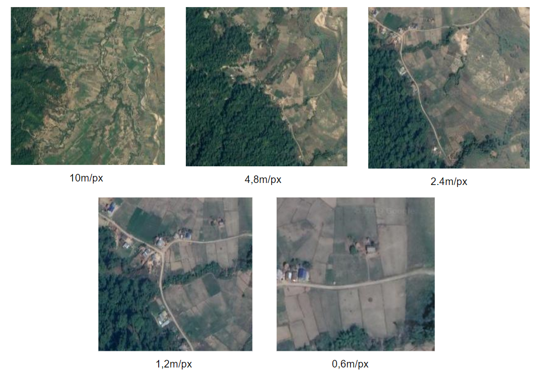 Satellite imagery spatial resolution vs quality - Source: Omdena