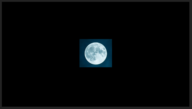 Cropped Moon Image in the Program Panel (Centered)