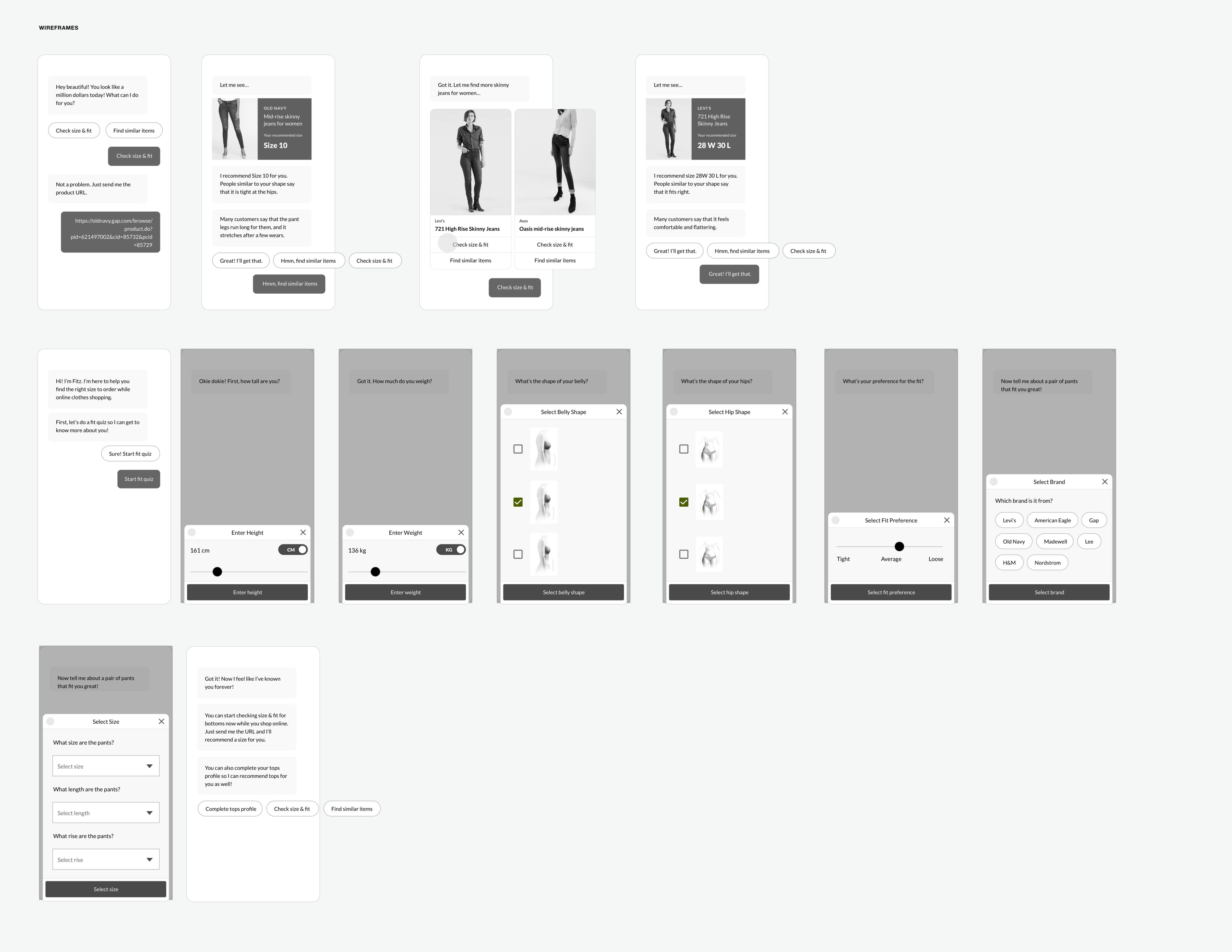 Fitz shopping bot — a UX case study - UX Collective