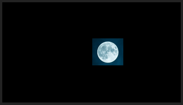 Cropped Moon Image in the Program Panel (Not Centered)