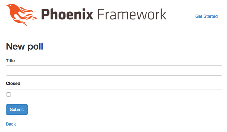 Building a Strawpoll clone in Phoenix with channels