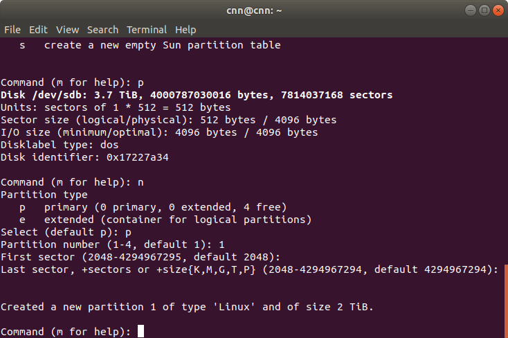 Partitioning, Formatting, and Mounting a Hard Drive in Linux