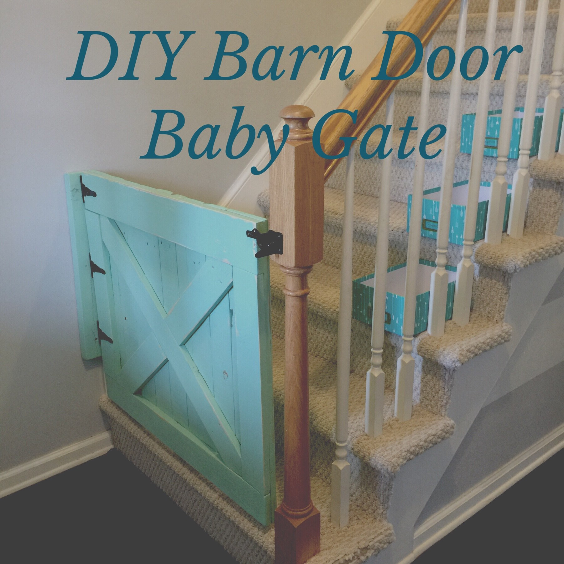 Diy Barn Door Baby Gate Out Of Pallets Shabby Aina Chic
