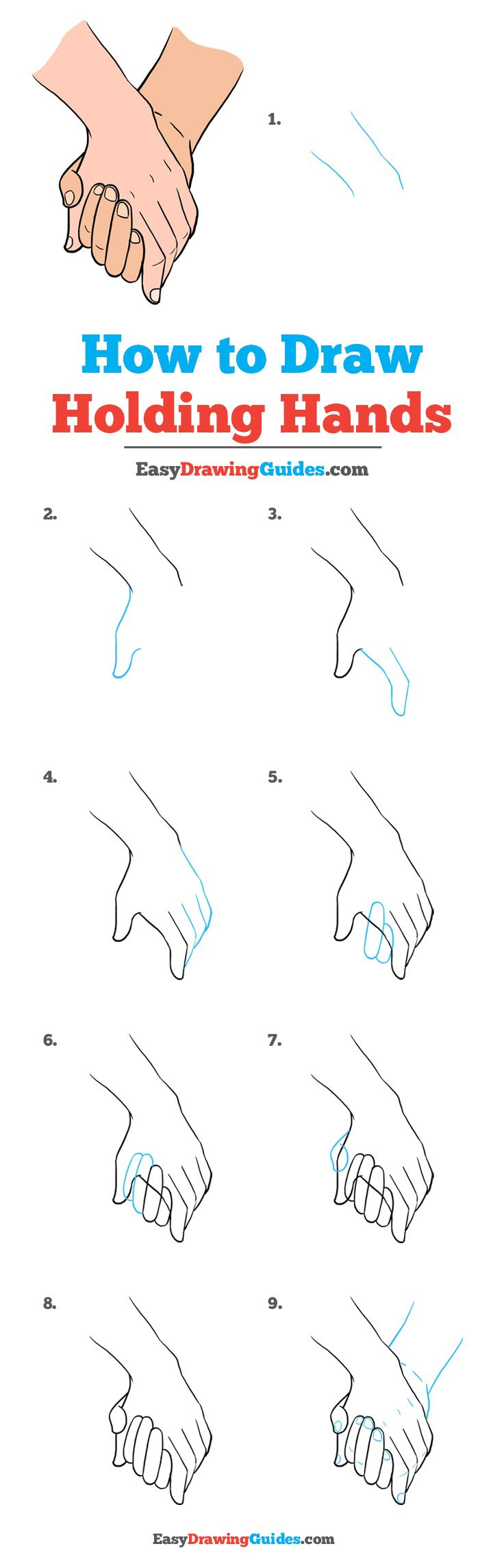 How To Draw Holding Hands By Easy Drawing Guides Medium