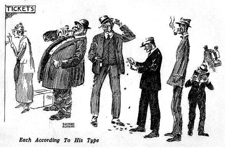 illustration from 'How to Analyze People on Sight' by Elsie Lincoln Benedict