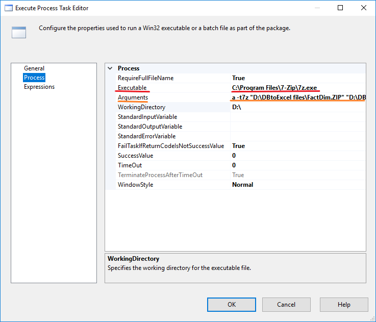 Exporting Data from SQL Database to Excel using SSIS and use