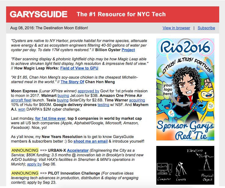 The Daily Guide to New York's Startup Ecosystem - Sam