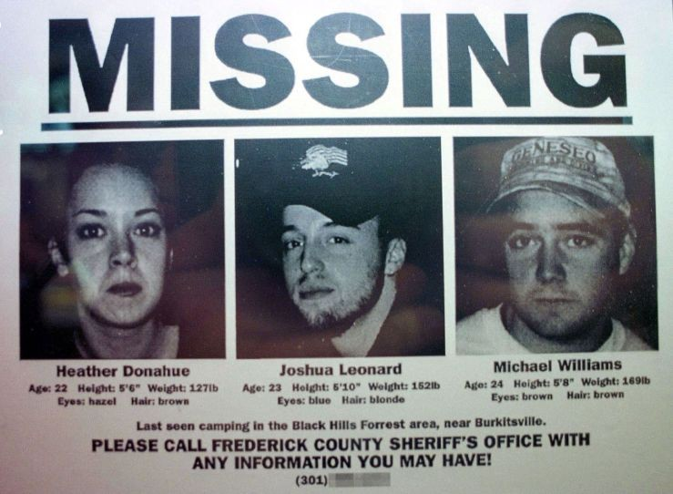 A missing persons poster used to advertise 'The Blair Witch Project' © Getty Images