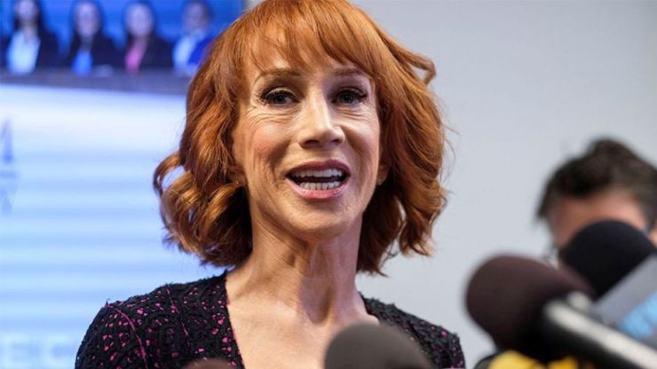 """Kathy Griffin posted a video of her """"celebrating"""" after the verdicts of former Trump campaign chairman Paul Manafort and Trump's former lawyer Michael Cohen on Tuesday, August 21, 2018."""