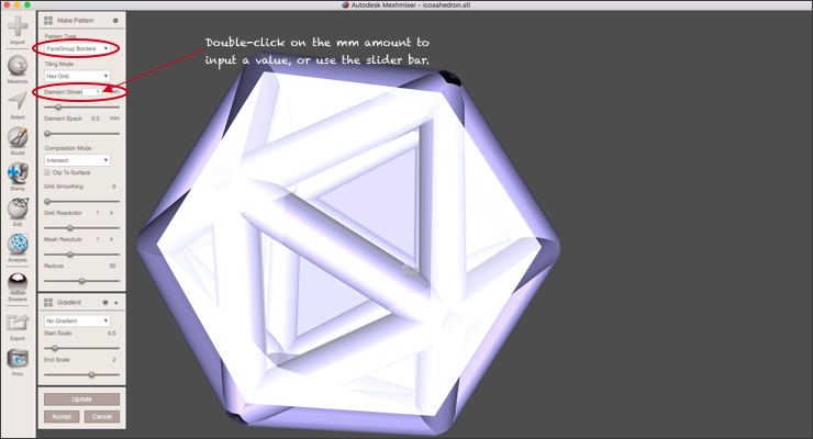 Create a Wireframe Pendant Using Rhino 3D and Meshmixer: Part 2
