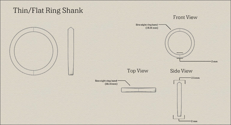Engagement Ring Tutorials Part 6d: Create Four Ring Shanks